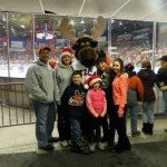 Hayes family at Teddy Bear Toss