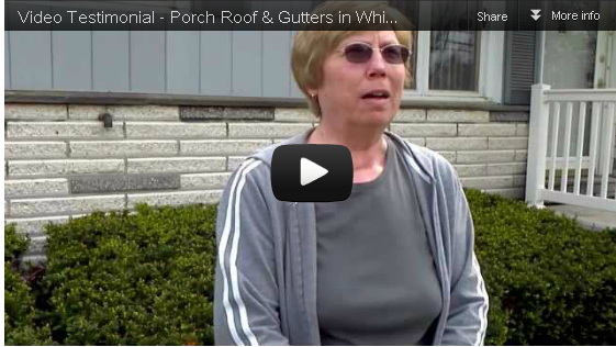 Video Testimonial – Porch Roof & Gutters in Whitesboro