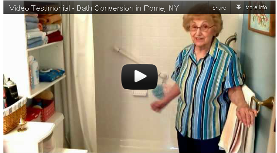 Video Testimonial – Bath Conversion in Rome