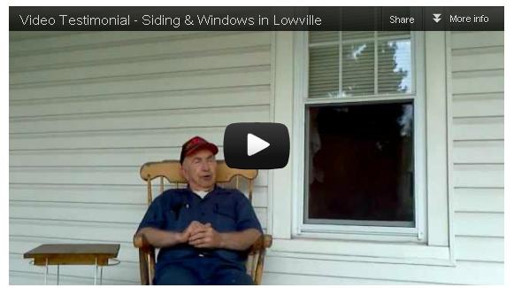 [Video Testimonial] Siding & Windows in Lowville, NY