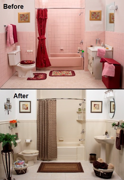 Tiny Bathroom Remodel Before And After Remodeling Ideas