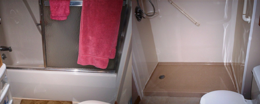 Before & After - Tub to Shower Conversion