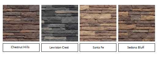 stacked stone siding colors