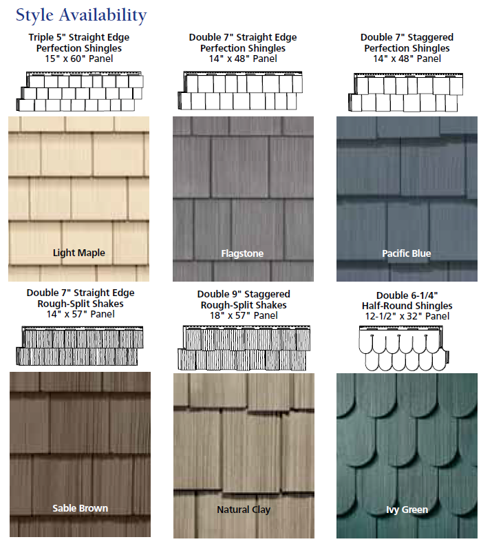 Come see our Vinyl Shake Siding It looks just like cedar shakes