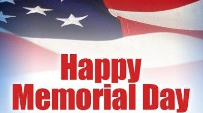 Memorial Day – We're Closed!