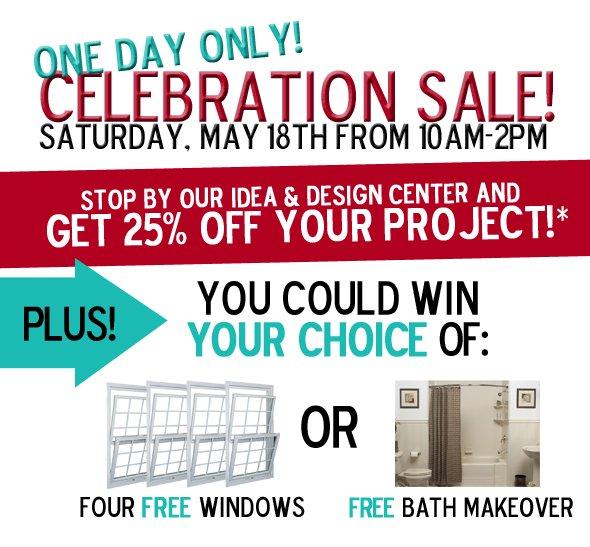 One Day Celebration Sale!