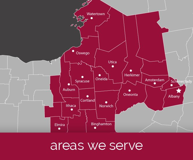 Map of areas New York Sash Serves
