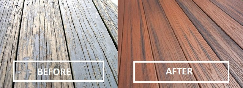 Look Feel Of Real Wood Without The Hassle Trex Composite Decking