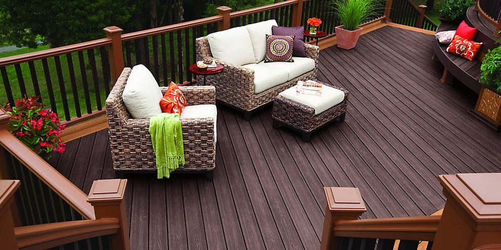 Look Feel Of Real Wood Without The Hle Trex Composite Decking