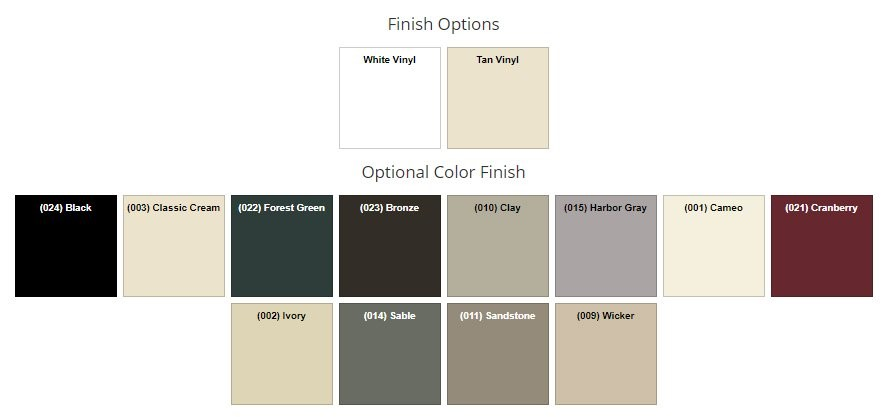 Optionl color finish