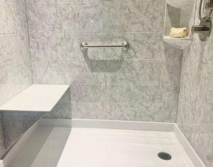 Shower interior.