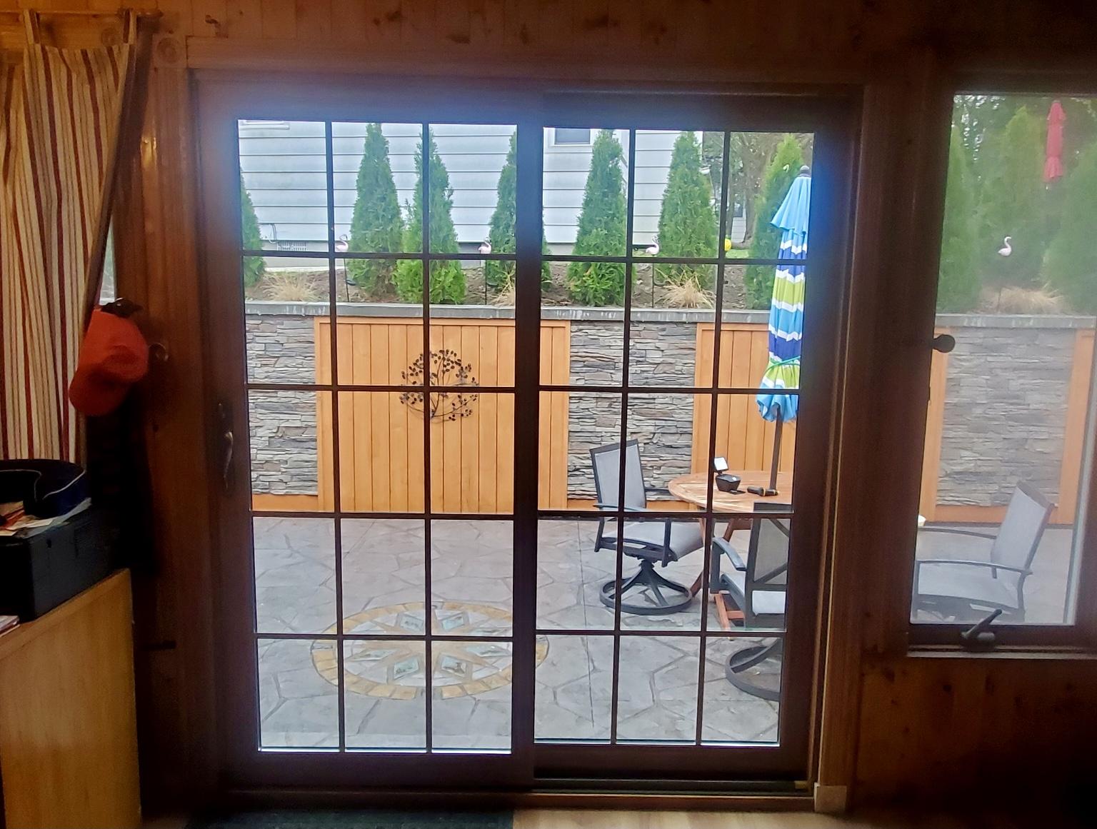 Patio door after