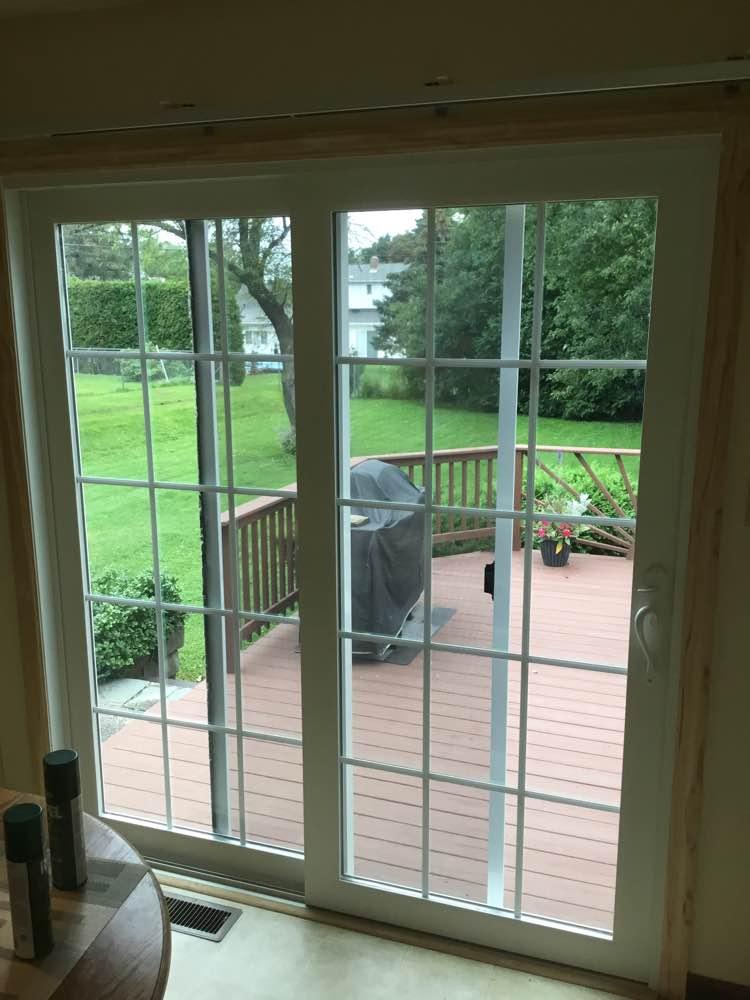 sliding patio door inside